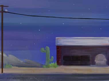 Bus Stop Background design