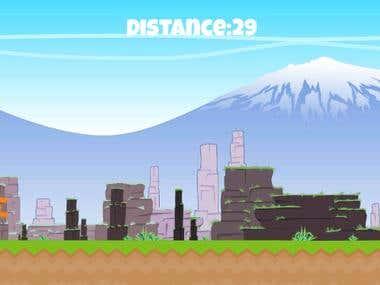 a bouncy-bits 2d like game written via unity/c#