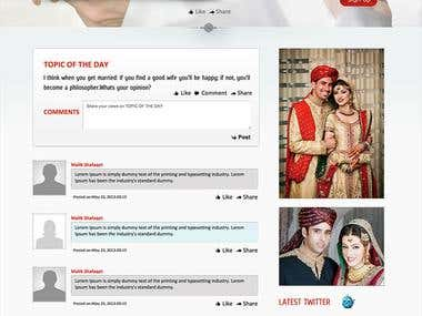 Intikhaab (a matrimonial website)