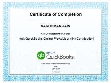 Intuit QuickBooks Online ProAdvisor (IN) Certification