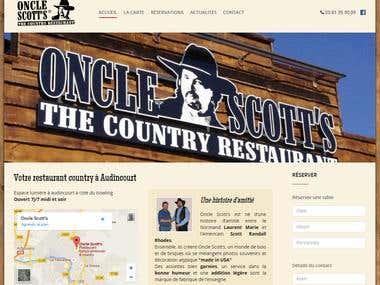 Country restaurant website