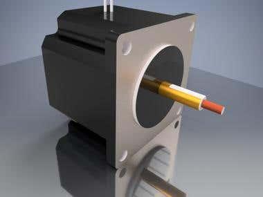Servo motor  3D Design