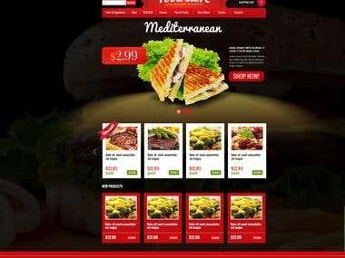 Food Store Website Design