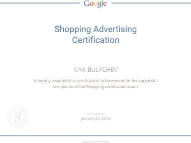 Google Shopping Advertising Certificate