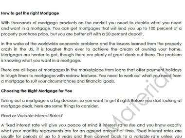 How to get the right mortgage