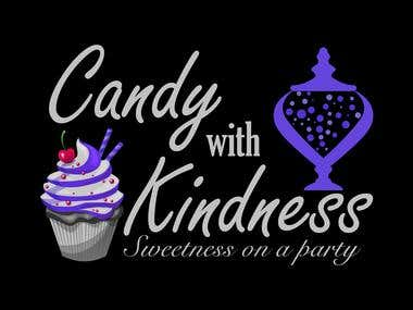 candy with kindness logo design