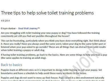 Three tips to help solve toilet training problems