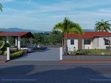 Architecture 3D design for home