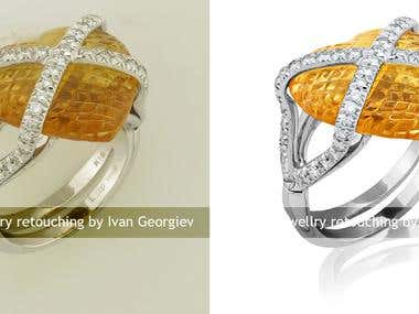 Jewelry retouch and color correction