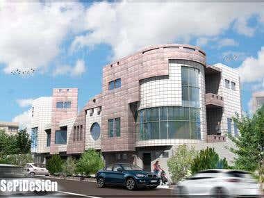 Residential complex exterior