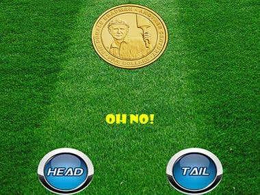 Toss coin app