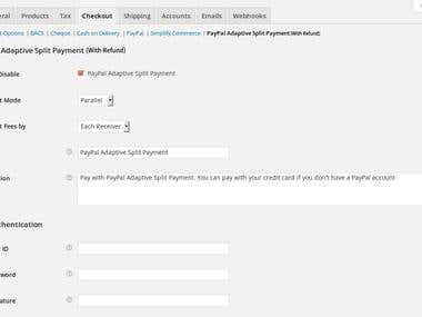 Refund Feature in PayPal adaptive plugin