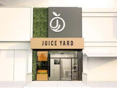 Juice Store Restaurant Architecture Design