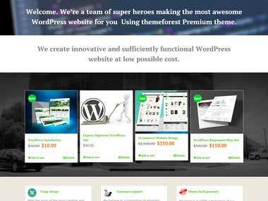 WordPress Development Company website