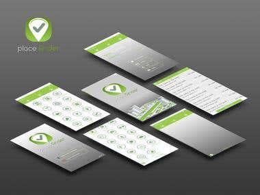Logo and Mobile App UI Design