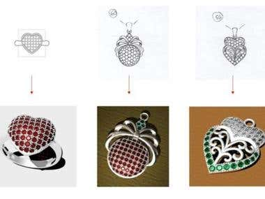 3D jewelry from handsketch or images