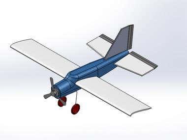 RC Airplnae 3D Model