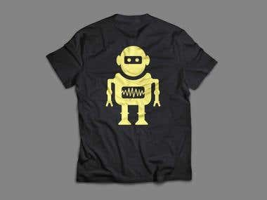 Logo for  shirts: robot wearing a pullover or suit