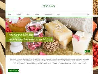 AREAHALAL.COM - ECOMMERCE / CATALOG WEBSITE