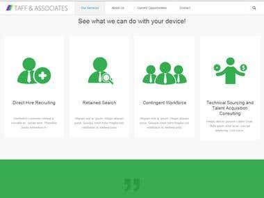 taffandassociates.com - Recruitment Website