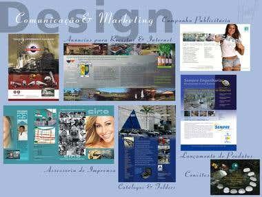 Folhetos , flyer e material de divulgação