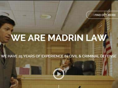 Web site for a law firm