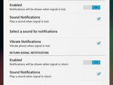Lost Signal Alarm Widget