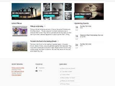 A website designed for Church