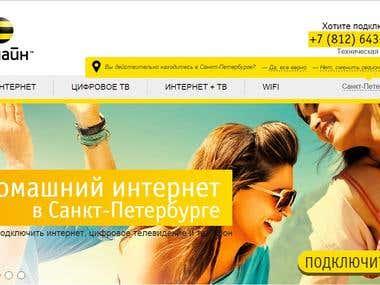 http://spb.beelineconnect.ru  проект на WordPress