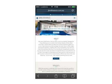 Jbm Finance Wordpress,Mobile Responsive