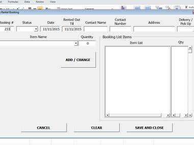 Excel Based Software