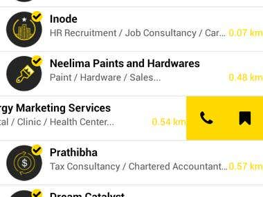Directory Listing Android Application, Listing Business