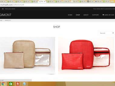 E-Commerce web site in shopify