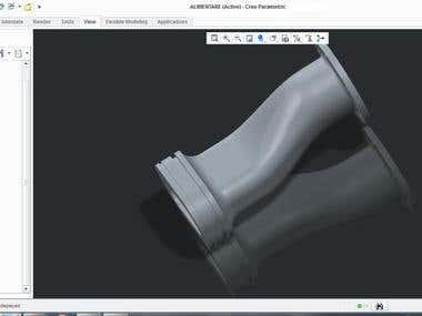 a part whit surfaces pro/e