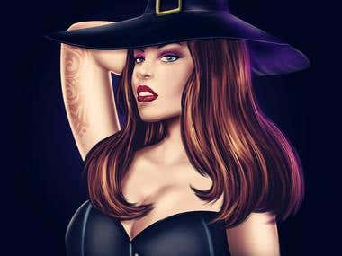 Witch Fantasy Character