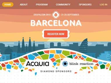 DrupalCon Barcelona Website design