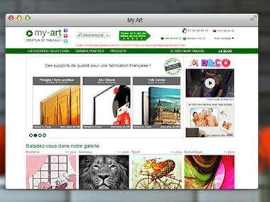 Website development based on Drupal CMS for www.my-art.com