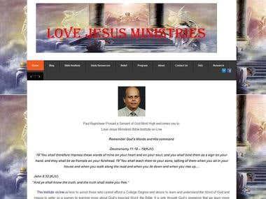 Love Jesus Ministries-Drupal