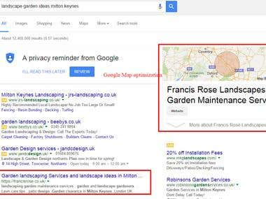 Francisrose Uk based SEO Project