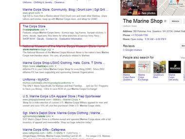 Marine corps store US based