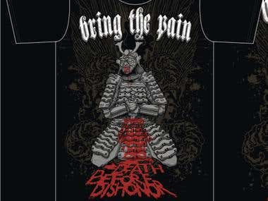 bring the pain t-shirt design concept