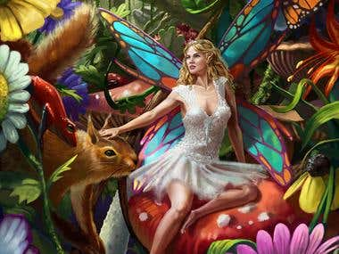 Summer Fairy puzzle illustration