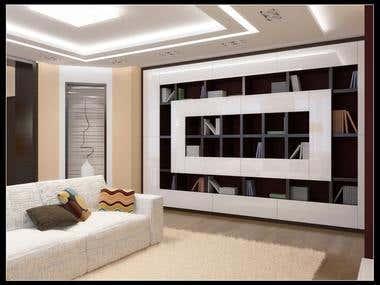 Interior design, 3D rendering and 3D modeling