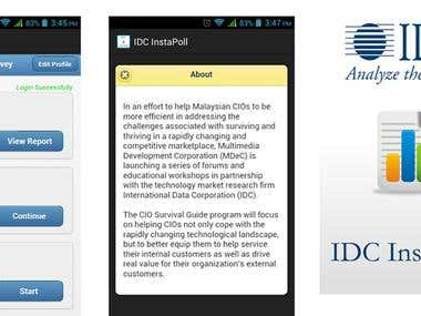 IDC-InstaPoll  (Android )