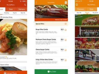 Restaurants-&-Delivery (iPhone app)