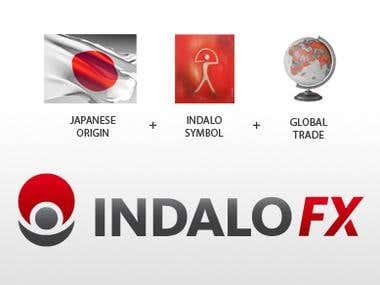Logo design for INDALO Forex Management