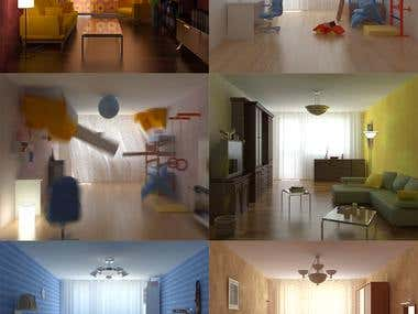 """screens from the commercial """"Caparol"""""""