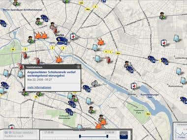 Crimeblips Web application