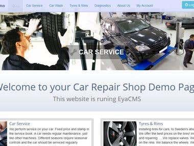 Autoservice website