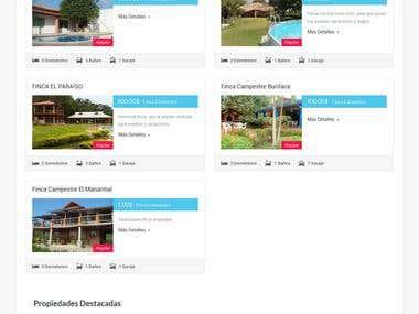 Pagina de arrendamiento de propiedades con formulario person